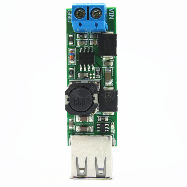Freeshipping dc 7-24V 9v 12v 19v To 5V 5A Step-down Power Module Voltage Converter USB Charging Board