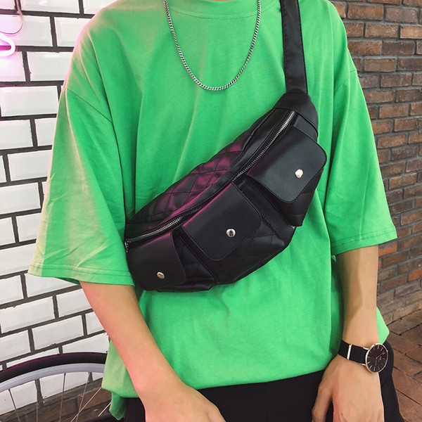 2018 nouvelle mode tendance hip hop hommes et femmes poches sport messager sac taille sac poitrine sac