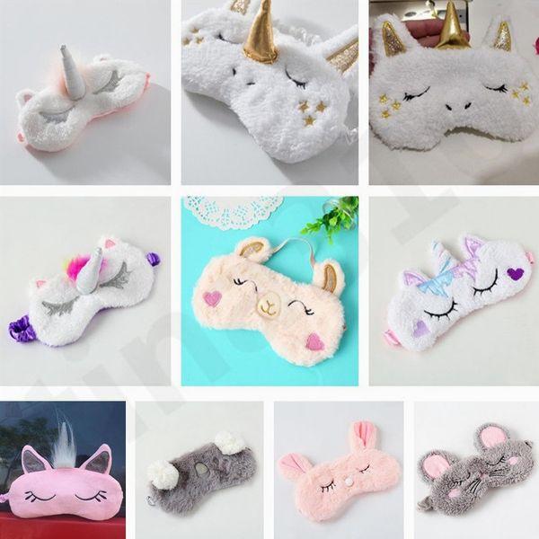 Factory Direct Sale Wholesale Unicornio Sleep Mask Lovely Cartoon Unicorn Eyeshade Eyes Care Tool Eye Patch T7I748