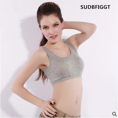 HOT 2017 women sexy Active Underwear Tops ladies High quality Solid Fitness Bra Padded Bra Crop Tank Tops