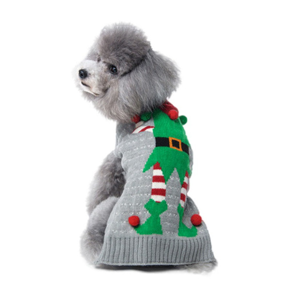 2018 Newest Xmas Pet Coat Outfits Clothing Christmas Santa Dog Sweater for Dog Cat Knit Apparel Small Dog Clothes Knitwear Poodle