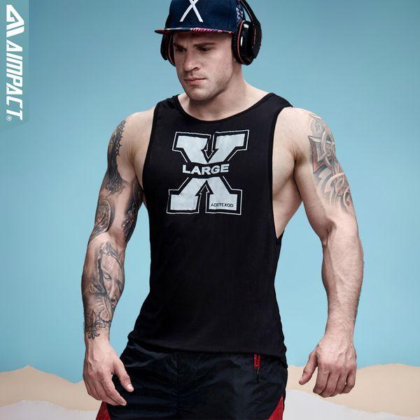 2bcf383bb93ec Aimpact Men s Vivid Tank Tops Low Cut Armholes Vest Sexy Casual Men Workout  Tees Xman Muscle