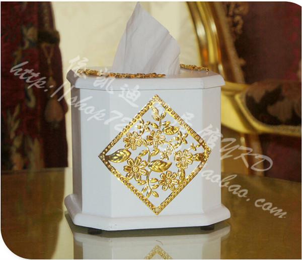 white really wooden tissue box napkin holder tissue holder wooden box paper towel for home decoration ZJH005