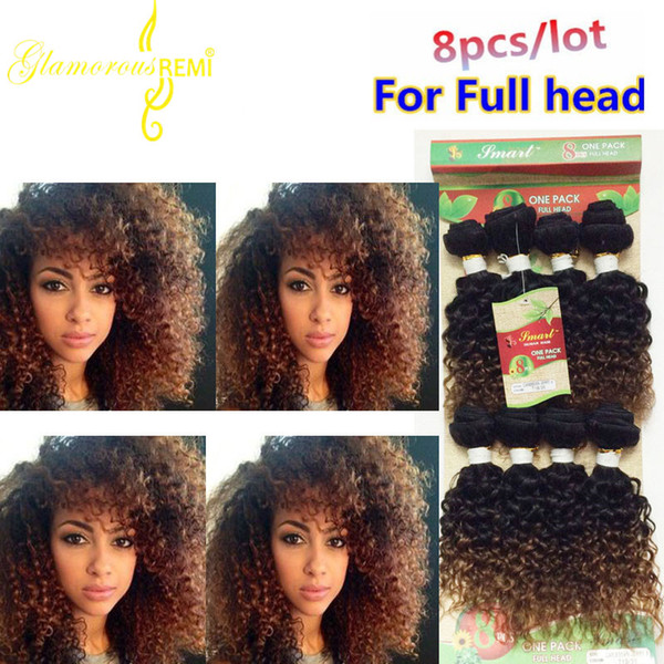 Natural Brazilian Human Hair Afro Kinky Curly hair 8 Pcs/lot Brazilian Kinky Curly hair Brazillian Human curly Weave Bundles for women
