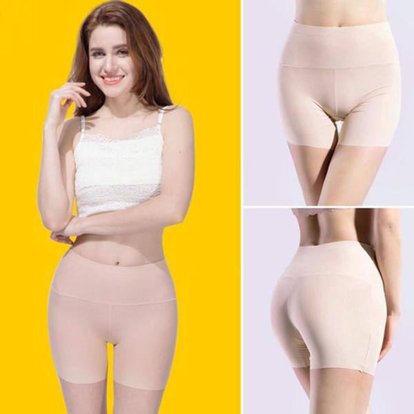 Женщины высокая талия безопасности короткие брюки нижнее белье женщины боксер трусы шорты сексуальные женские Boyshort трусики