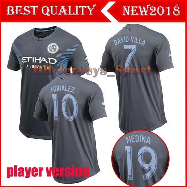 jugador versión 2018 NYCFC FC New York City camisetas de fútbol de visitante MEDINA LAMPARD DAVID VILLA MORALEZ camisetas de fútbol en casa de primera calidad