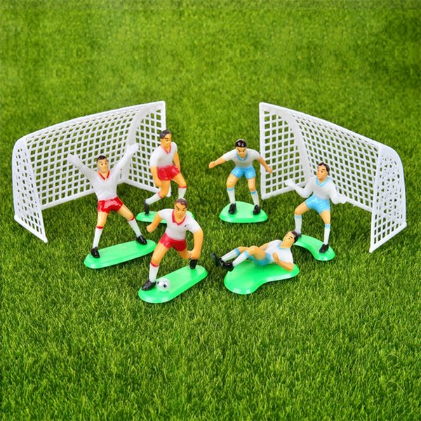 Football Boys Miniature Figurine Spoart Team Cake Decoration Mini Fairy Garden Party Action Figures Home Ornaments Gift
