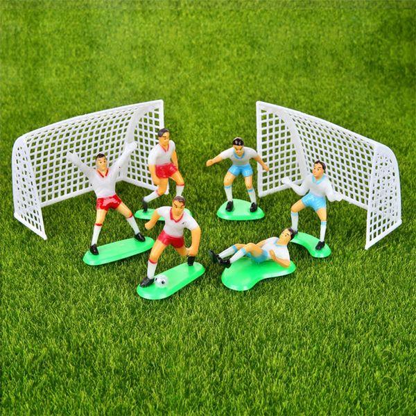 Chicos de fútbol Figurilla Miniatura Equipo Spoart Decoración de Pastel Mini Fiesta de Jardín de Hadas Figuras de Acción Adornos en Casa