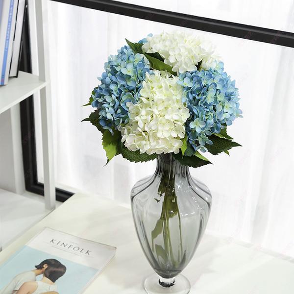 Artificial Flowers silk hydrangea fake Flowers Party Home decor table Centerpieces Wedding Decoration fake Floral Single stem Bridal Bouquet