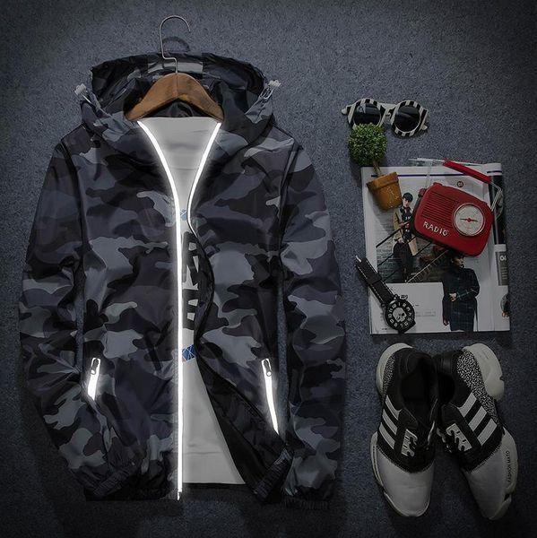 New Camouflage Jacket Men Women Plus Size Camo Hooded Windbreaker Jackets Military Canvas Jacket Parka Fashion Streetwear