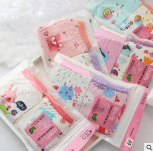 Baby Kids Girls Underpants Soft Cotton Panties Child Underwear Short Briefs Organic cotton female baby underwear