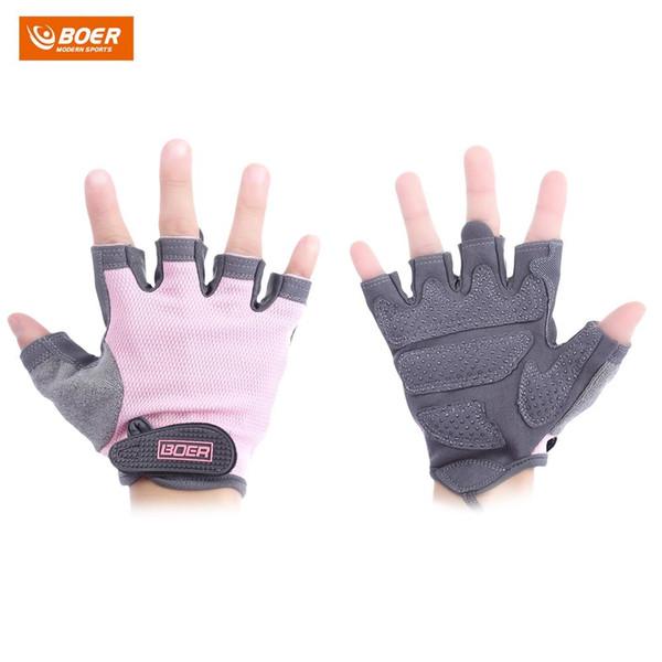 BOER Paired Fitness Sport Gym Exercise Weightlifting Women Half Finger Gloves Warm Gloves Half Finger Clamshell Gloves