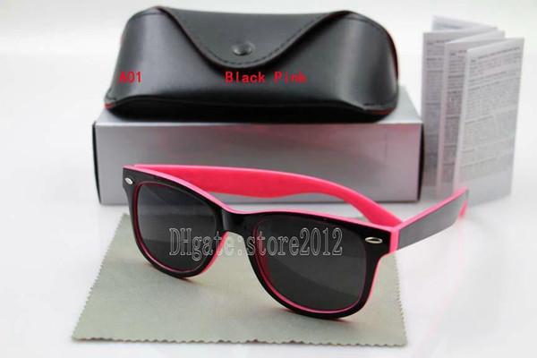 black pink frame black lens