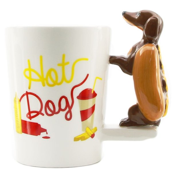 c38229776af 1Piece Dachshund Sausage Pet Dog Personalised Mug Unique Sausage Dog Gift  Funny Fast Food Sausage Puppy