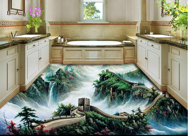 3d Nature Wallpapers 3d Great Wall Three Dimensional Floor Photo Wallpaper Nature Halloween Wallpaper Hd A Wallpaper From Yyyy2015 5026 Dhgatecom