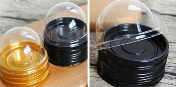 6 cm W x 5 cm H 50 setleri = 100 adet Mini Boyutu Plastik Cupcake Kek Dome Cupcake Kutuları Konteyner Düğün Kek Kutusu Favor Kutuları Malzemeleri