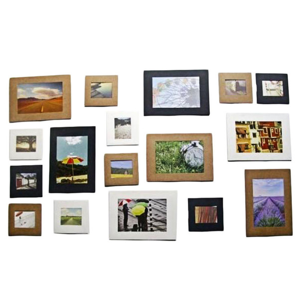 Porta retrato Creative Gift 10Pcs Cute 3Inch Wall Picture Album Paper Photo Frame Hanging Rope Camp Freeshipping&Wholesale