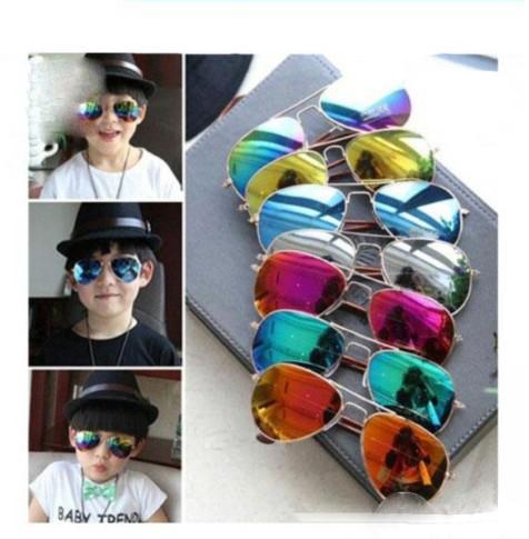 Fashion kids Boys Kids Sunglasses Aviator Style Brand Design Children Sun Glasses UV Protection sunglass 15 colors