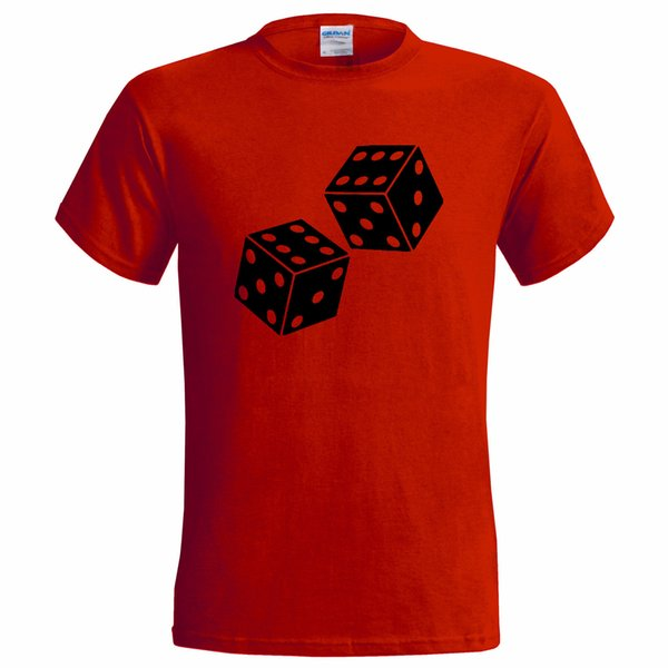 LUCKY DICE DOUBLE SIX DESIGN MENS T SHIRT GAME GAMBLE 6 CASINO BETTING tops wholesale tee