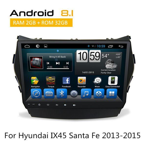 Double unité principale de Din pour le système multimédia de voiture DVD de Hyundai IX45 Santa Fe 2013 avec le plein écran tactile AUX Bluetooth