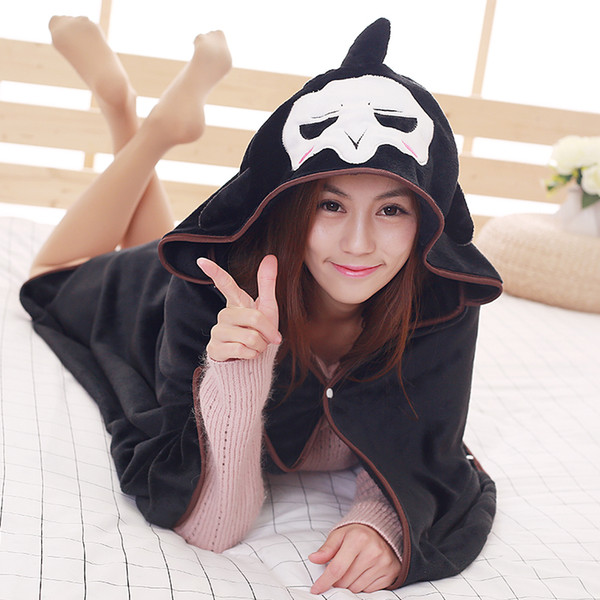 Halloween Christmas Cosplay Cloak Cape Grim Reaper Wizard Witch Cloak Cape Air conditioning blanket