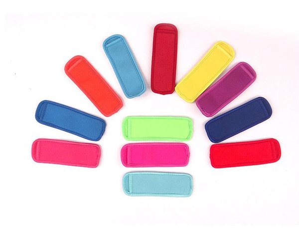 top popular Popsicle Holders Pop Ice Sleeves Freezer Pop Holders 15x4.2cm for Kids Summer Kitchen Tools popsicle sleeve 12 color SN084 2019
