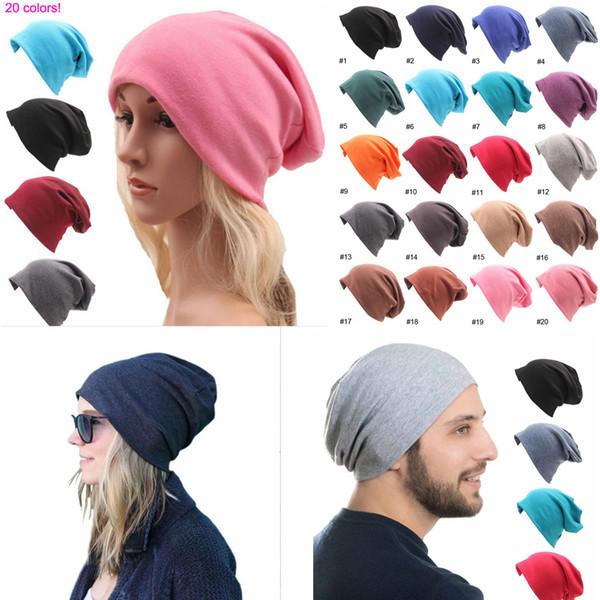20styles Knitted Cotton Hats Winter Warm Ski Crochet Hat Slouch Punk Women Men Cotton Skullies Blends Beanie Caps hip hop hat FFA1222
