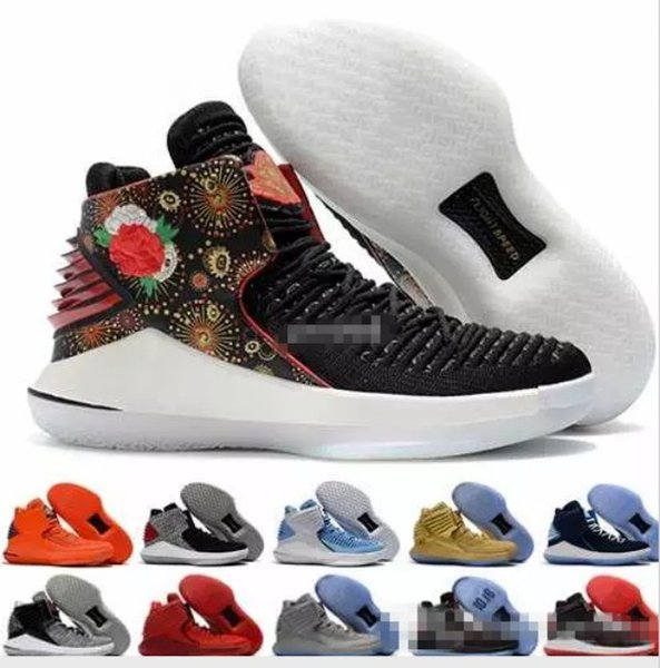 2018 New 32 XXXII Flights Speed Mens Basketball Shoes Chinese New Year CNY Red Black 32s Men Sports Trainers Sneakers Size US 7-12