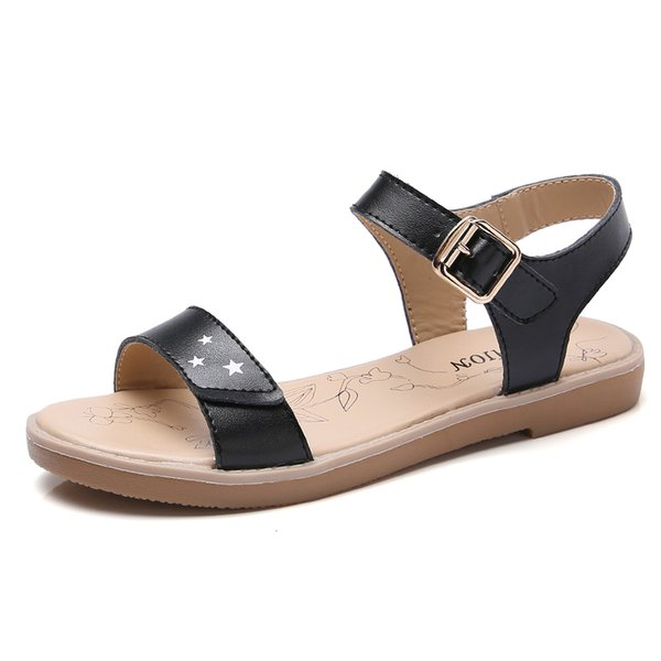 2018 Summer leather casual Korean student sandals shoes women and girls