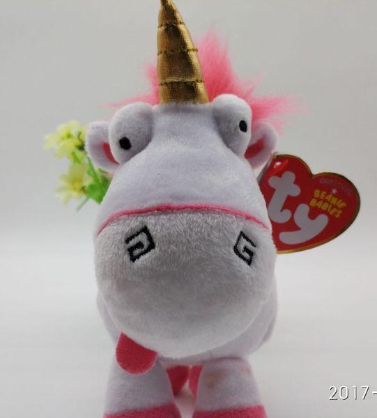 6in Ty My Lovely Fluffy Unicorn pony Soft Plush Doll Toy for kids