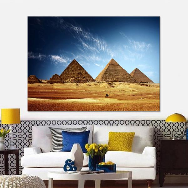 Холст HD печатает фотографии рамки для гостиной домашнего декора 1 шт./шт. завораживает Египет картины пирамида плакаты стены искусства