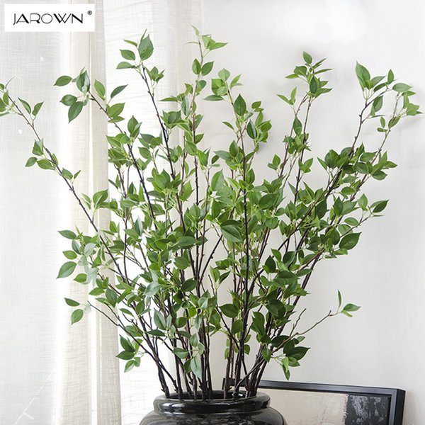 JAROWN Small banyan tree twigs Real Touch Branches Artificial Plants Decorative home Fake Green Artificial Flowers For Wedding Party