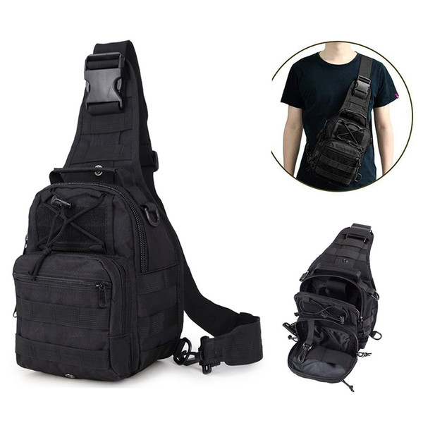Tactical single Shoulder pack Multi-use waterproof chest cross body sling backpack for Outdoor Hiking Camping climbing