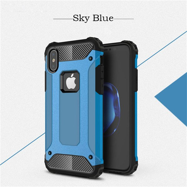 Hybrid phone case Shock proof for iphone x case Tough Hard Plastic Soft TPU Rubber Silicone for Goophone Armor phone case