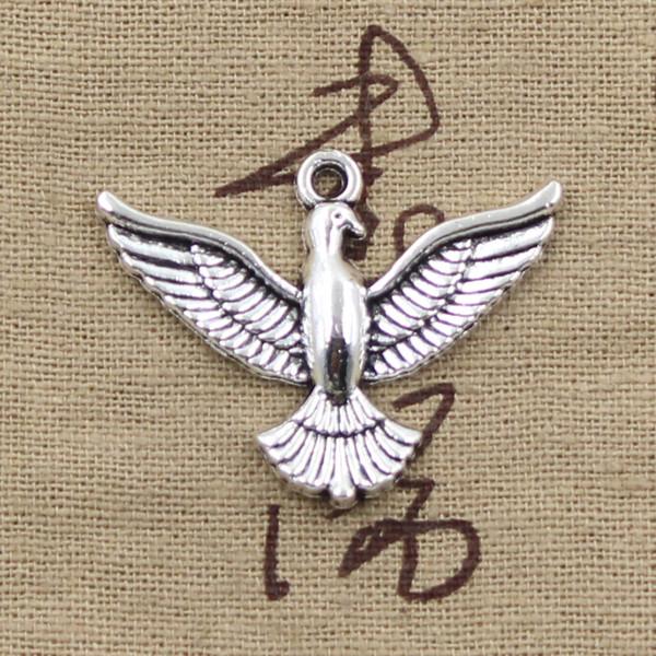 3pcs Encantos águila halcón 28 * 37mm Antique Making colgante en forma, Vintage Tibetan Silver, collar pulsera DIY
