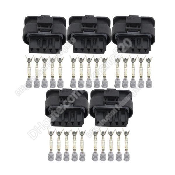 5 Sets 5 Pin DJ7056-1.2-21 Waterproof Female HIRSCHMANN Automotive Connector Car Connector Housing Plug 872-860-541 872-860-546