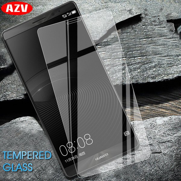AZV 9H Tempered Glass For Huawei Mate 7 8 S 9 10 Lite 10 Pro Screen Protector Film For Huawei P8 P9 P10 Lite Protective Glass
