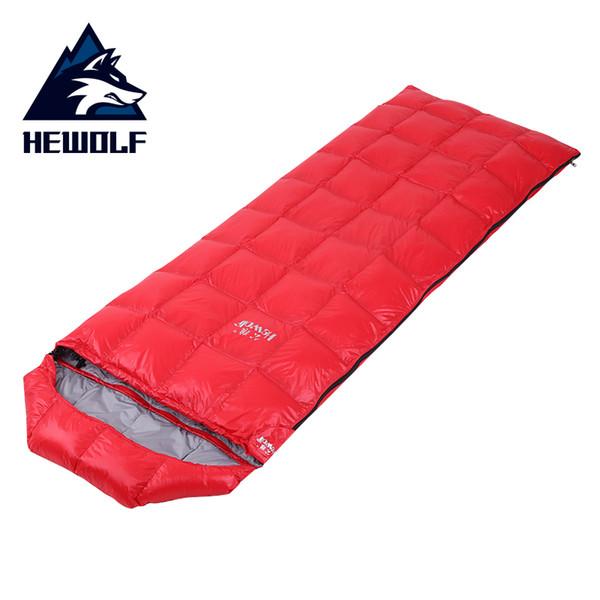 Hewolf Camping Sleeping Bag Ultralight Duck Down Envelope Splicing Sleeping Bag Portable Comfortable Fashion Style