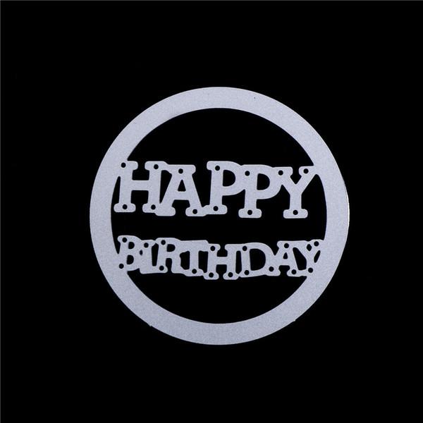 Happy Birthday metal die cutting dies scrapbooking embossing folder suit for sizzix fustella cutting machine
