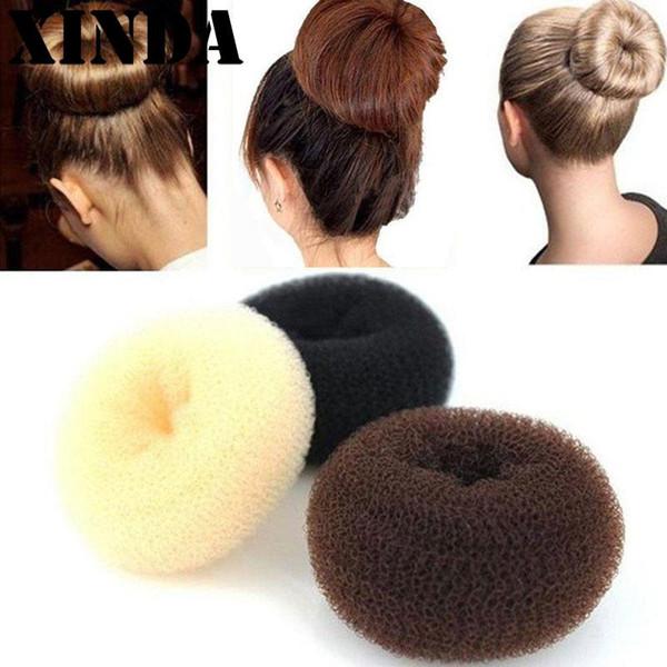 Big Bun Hair Bun Ring Princess Hair Donuts Meatball Headwear Accessory Yoga Headband Black Beige Brown Dropshipping PST9183