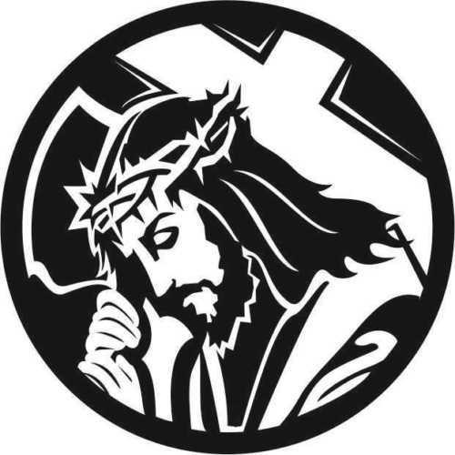 2019 Religious Jesus With Cross Car Sticker Vinyl Car Packaging