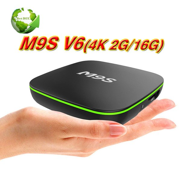 2 GB 16 GB Rockchip RK3229 Android 7.1 TV KUTUSU M9S V6 4 K Suppot H.265 4 K 60 tps 2.4 GHz WiFi BT2.1 Medya Oynatıcı IPTV Kutusu BET TX2 R1 R2