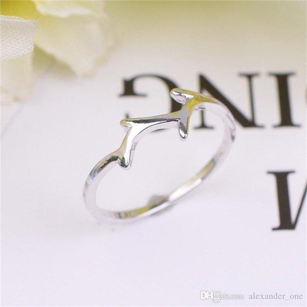 100% 925 Ayar Gümüş boynuzları Yüzük Kadınlar Için Basit Midi Knuckle Yüzükler Düğün Sevgililer Hediye bague argent 925 femme Kız