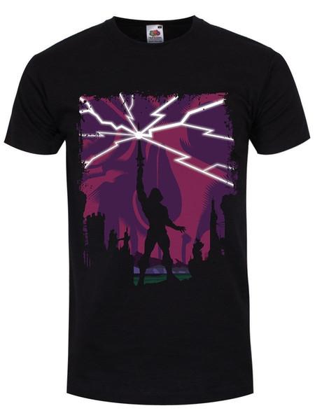 Herren T-Shirt Silhouette surhumaine schwarz Imprimer T Shirt Homme Court Manches Courtes Coton Mode Livraison Gratuite