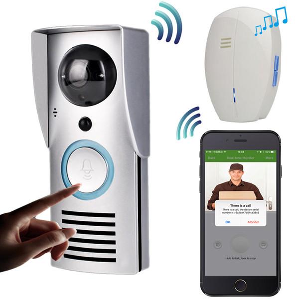 WIFI 720P Videocitofono Campanello senza fili Citofono Monitor Smart Bell Telecamera HD Sensore di movimento PIR Visione notturna Sblocco