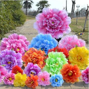 Accessoires de fleur de pivoine Grand spectacle théâtral Outils utiles Creative Style chinois Accessoires de performance de fleur de pivoine Décorations de fête CCA9839 30pcs