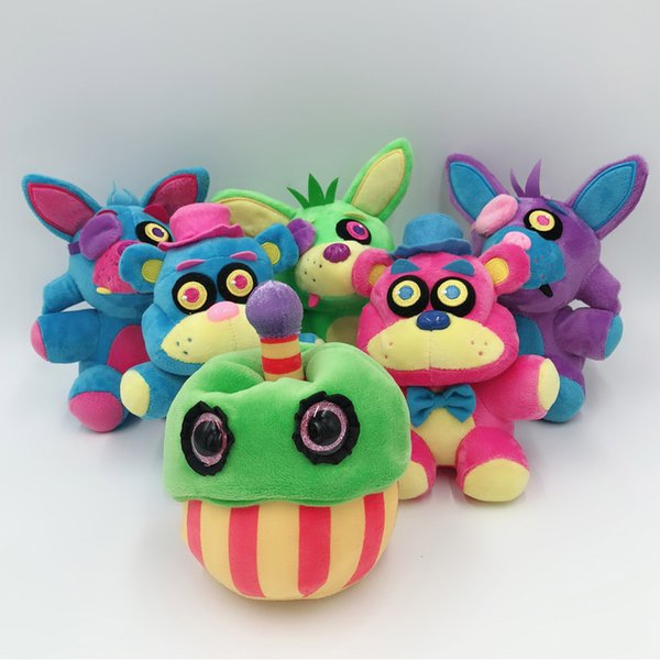 "Hot New 6 Styles 7"" 18CM Five Nights at Freddy's Plush Doll Freddy Cupcake Foxy Blacklight Anime Dolls Soft Party Gifts Stuffed Toys"