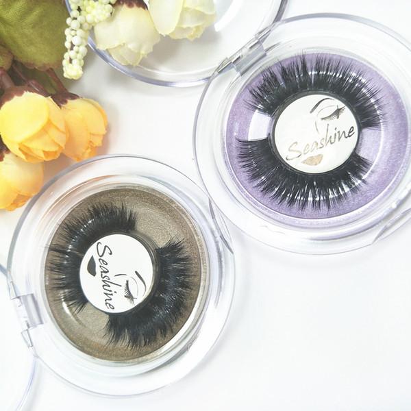 2018 Seashine 3d mink eyelashes manufacturer beauty mink hair natural looking makeup customzed logo oem lashes free shipping
