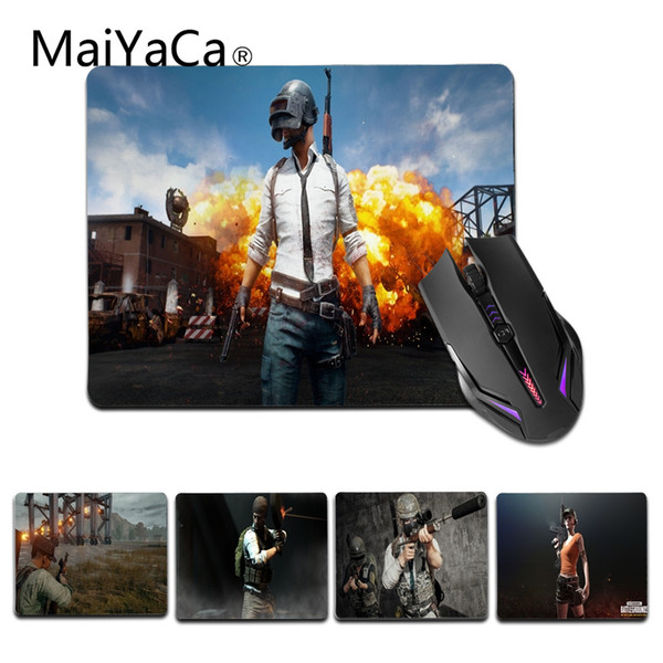 MaiYaCa Hot Sales Battlegrounds Comfort small Mouse Mat Gaming Mouse pad Size for 25X29cm Silicon Mousemats