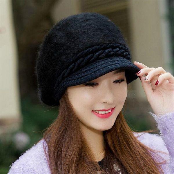Mink and Fox fur ball cap winter hat women hat girl knitted hats skullies beanies brand new thick female cap